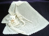 No 20 Square 100% Cashmere Baby Shawl